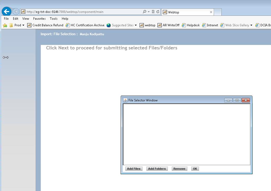 Import Problem with Webtop 6 8 2 SSL Enabled — OpenText - Forums