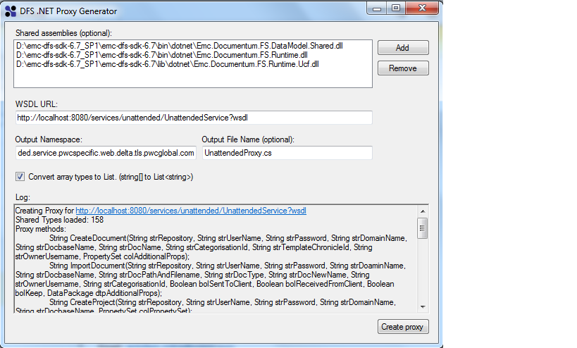 DFS UCFContentTransfer example, missing Emc Documentum FS Runtime