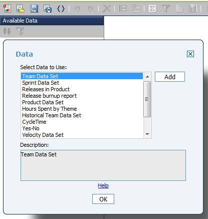 Report Studio: Add DataSet Dialog: What is the