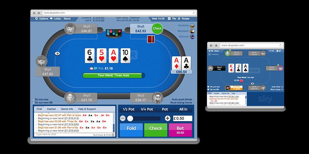 Sky Poker HTML5 table
