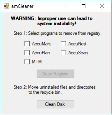 Cannot uninstall accumark V12 on Windows 10 — Gerber