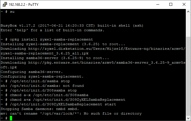 NSA325: Trouble installing MetaRepository — Zyxel Home Forum