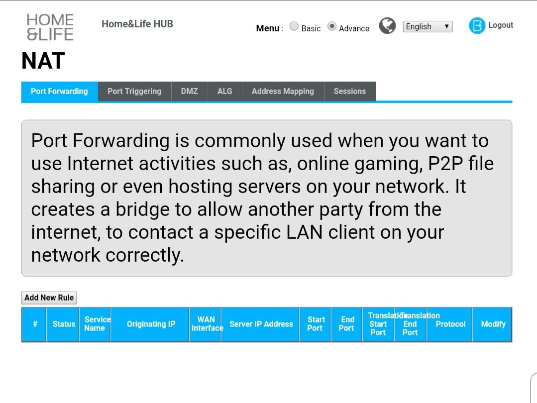 Configure NAS on VM8825 NOT in DMZ — Zyxel Home Forum