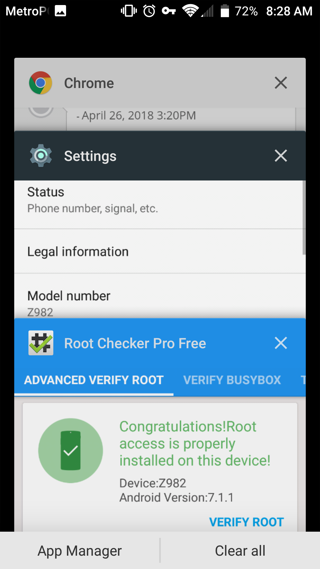 Root the ZTE Blade Z Max /Z982 with locked/unaccessible Bootloader