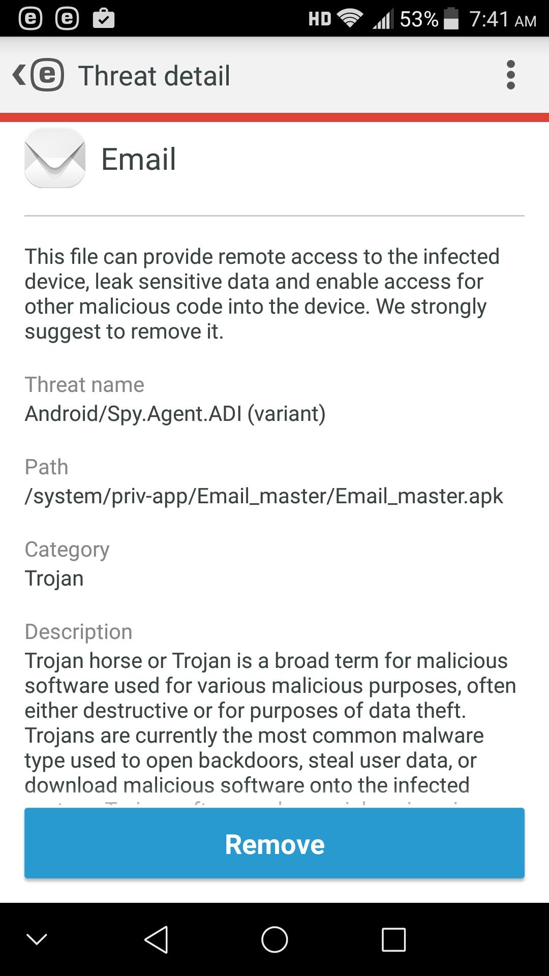 Default Email APK Spy Agent? — Z-Community