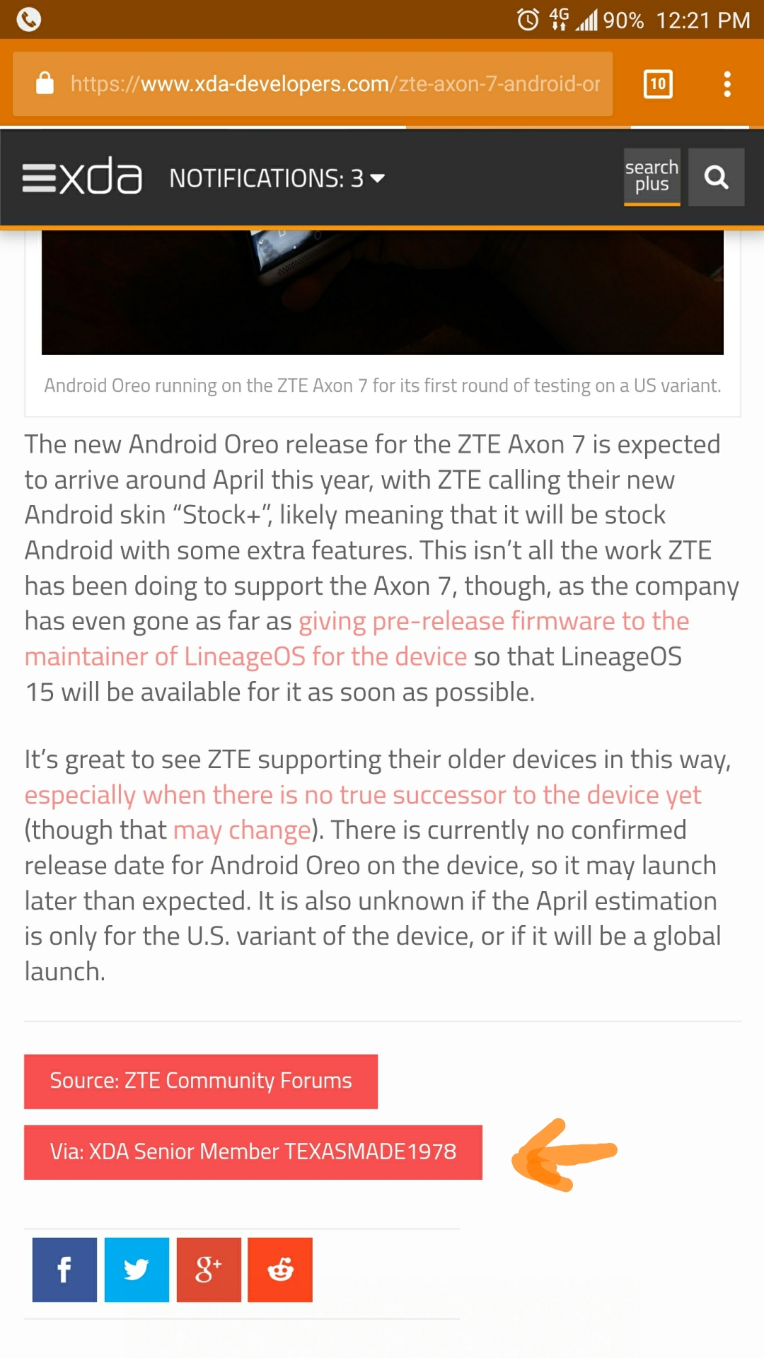 Axon 7 testing Oreo and near stock Android  - Page 2 — Z