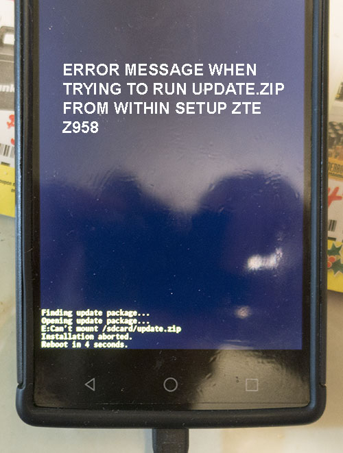 Bonkers  Cannot update stock firmware from official ZTE website