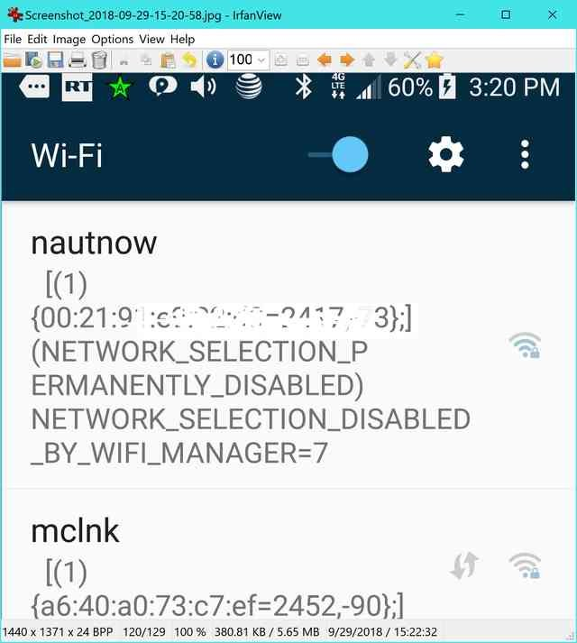 network selection permanently disabled by wifi manager — Z
