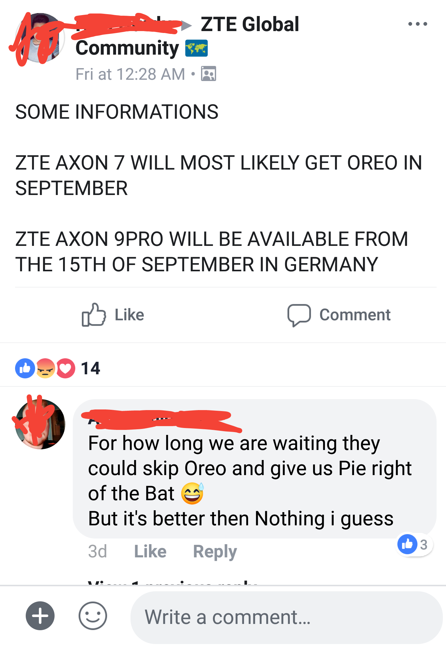 I Hope this is TRUE    Axon 7 Oreo in this month — Z-Community