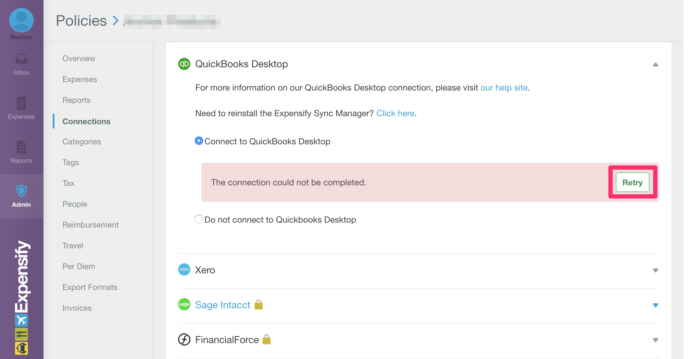 Connecting to Quickbooks Desktop - where can I find my token