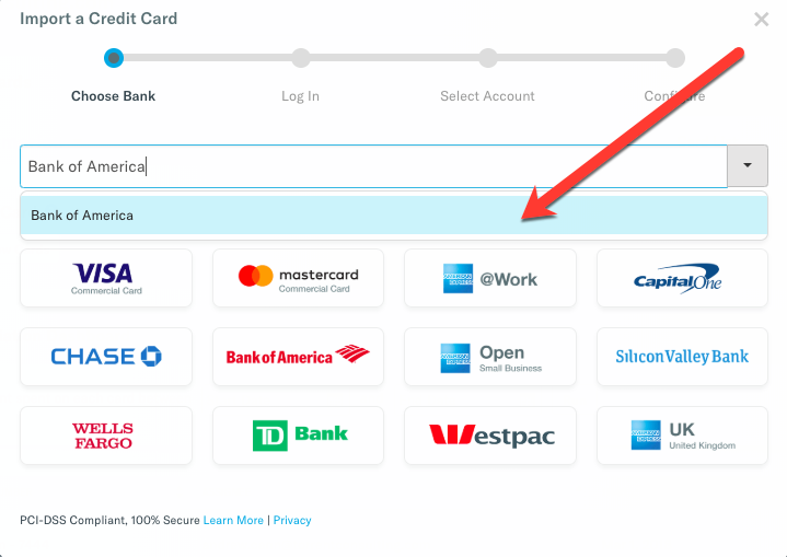 Check out our brand new Bank of America connection