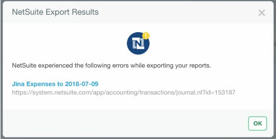 NetSuite Export Error — Expensify Community