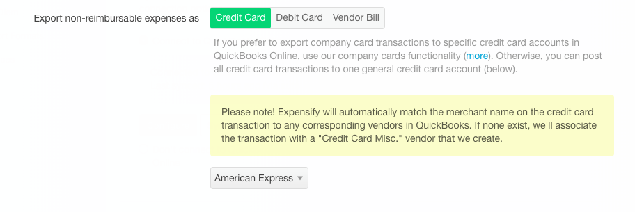 Using Quickbooks Online (QBO) and AMEX with Expensify