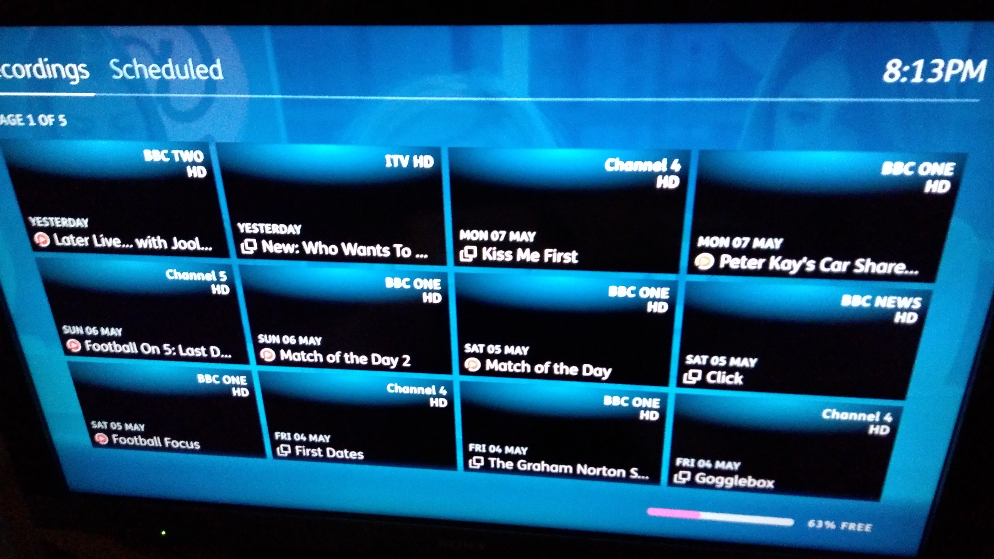 No pictures in the recordings list/library — YouView Community