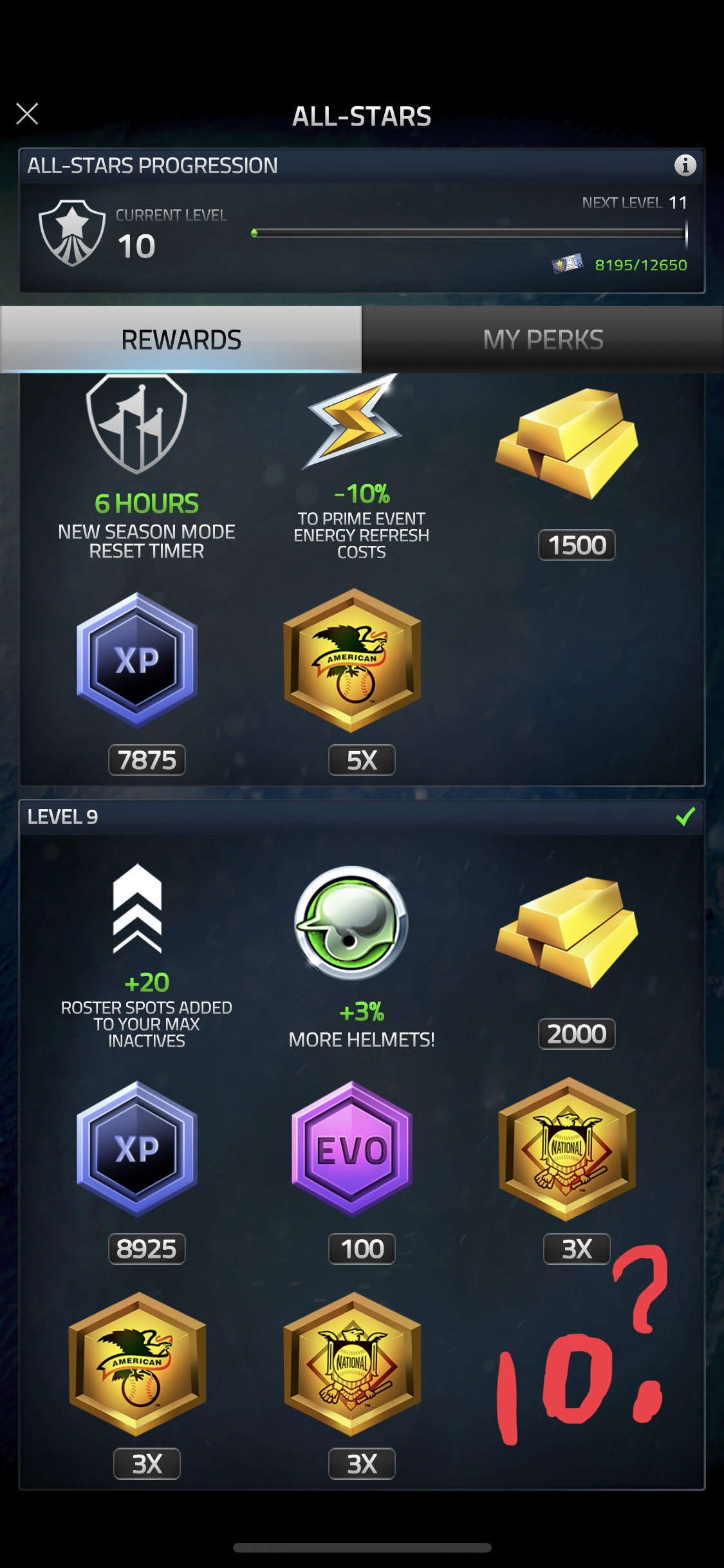 All Star Level 10 Rewards — Glu Communities