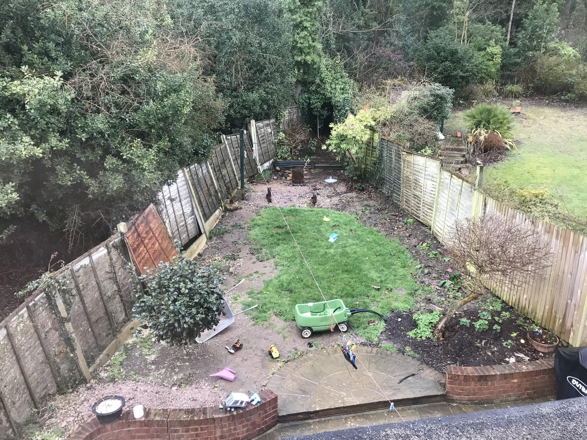 Raised Awkward Shaped Garden   Help!