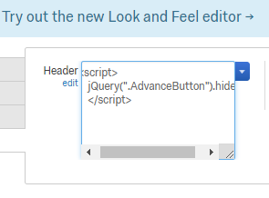 Is there a way to remove the auto advance