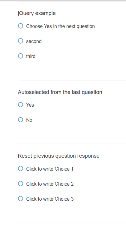 Not able to reset selected radio buttons using javascript