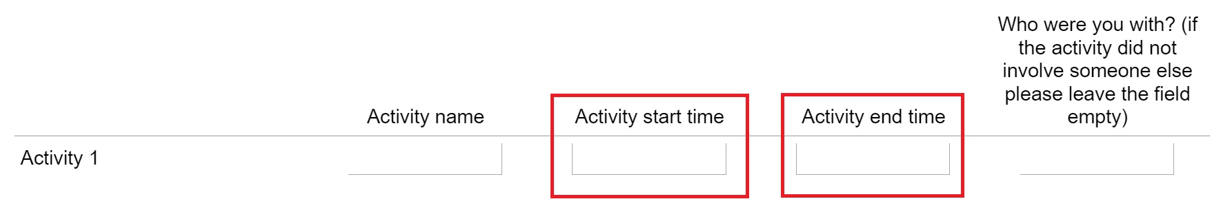 How to add timepicker to a field in a matrix type question
