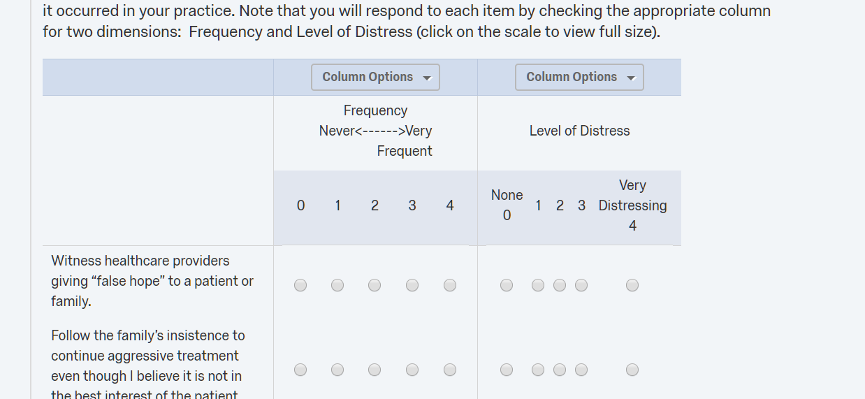 the one on the right has the anchors with the likert scale but the spacing between options is not even