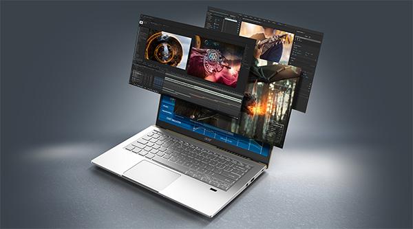 User Acer Swift X running various design apps