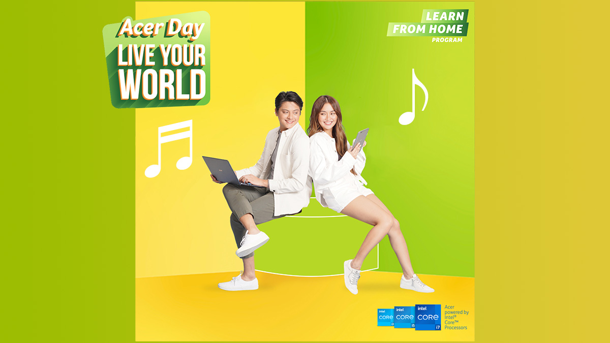 Kath Bernardo and Daniel Padilla using Acer products