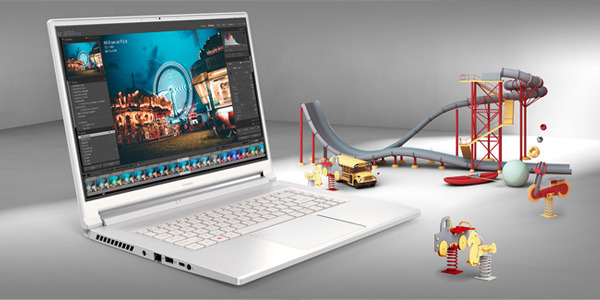 ConceptD 5 Laptop with vibrant colors on the screen