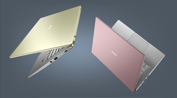 User Acer Swift X thin and light laptop