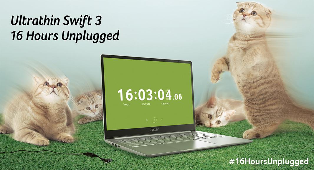 Ultrathin Swift 3 16 Hours Unplugged