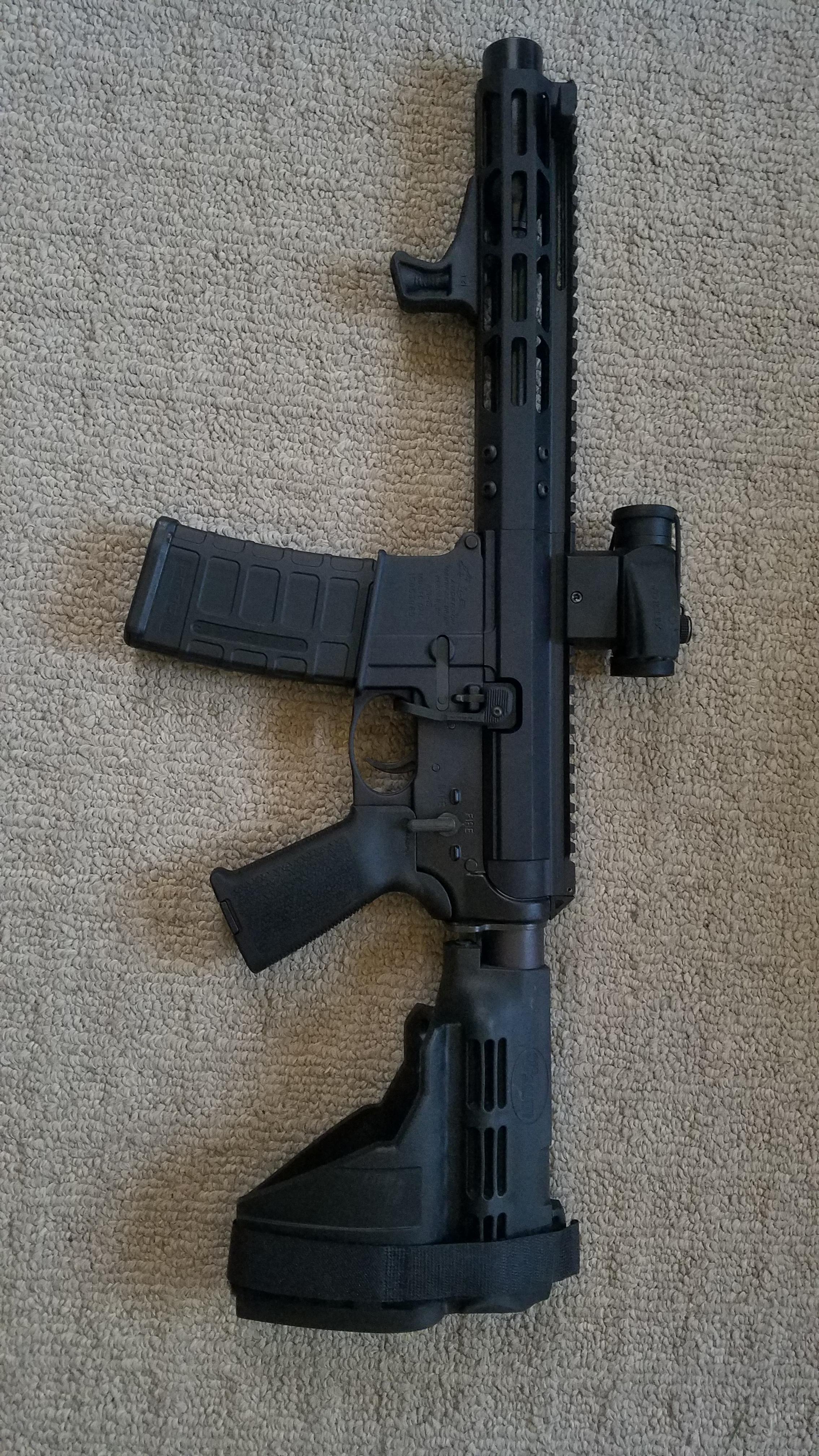 New 9mm AR Pistol — gunsandammo