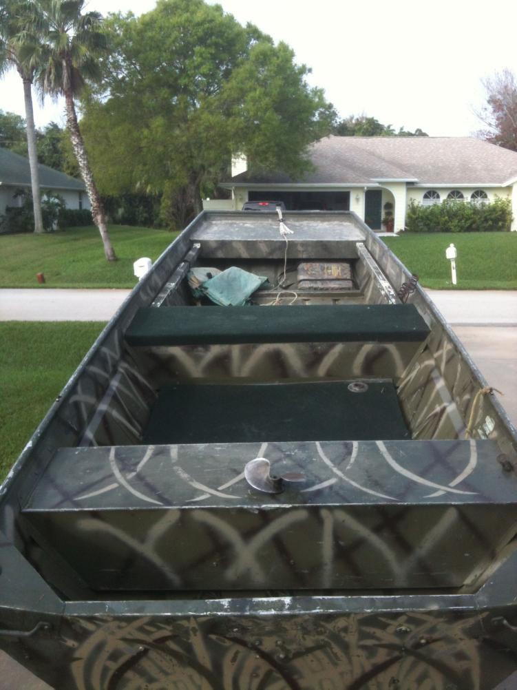 1448 Duck Boat with 20 hp Honda Go Devil - $2800 — Florida