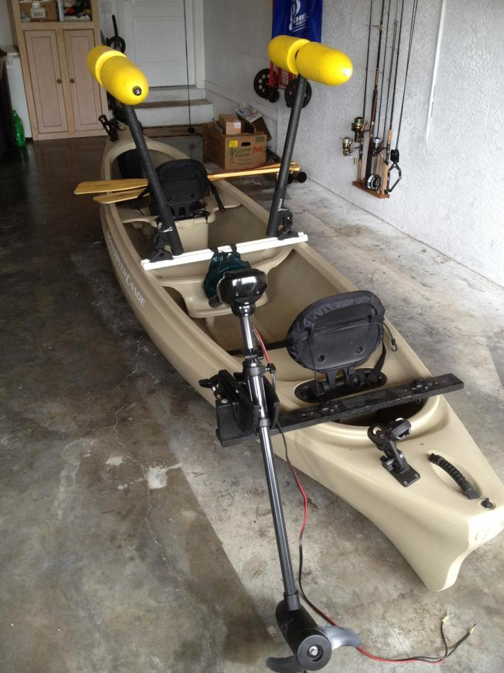 Selling Mad River canoe, trolling motor, stabilizers, etc