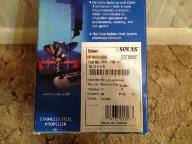 Solas Stainless Prop Mercury/Honda/Tohatsu/Nissan — Florida