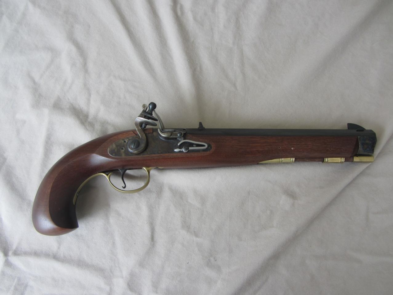 50 Caliber Flintlock Muzzleloader Set:- Hawken Rifle and