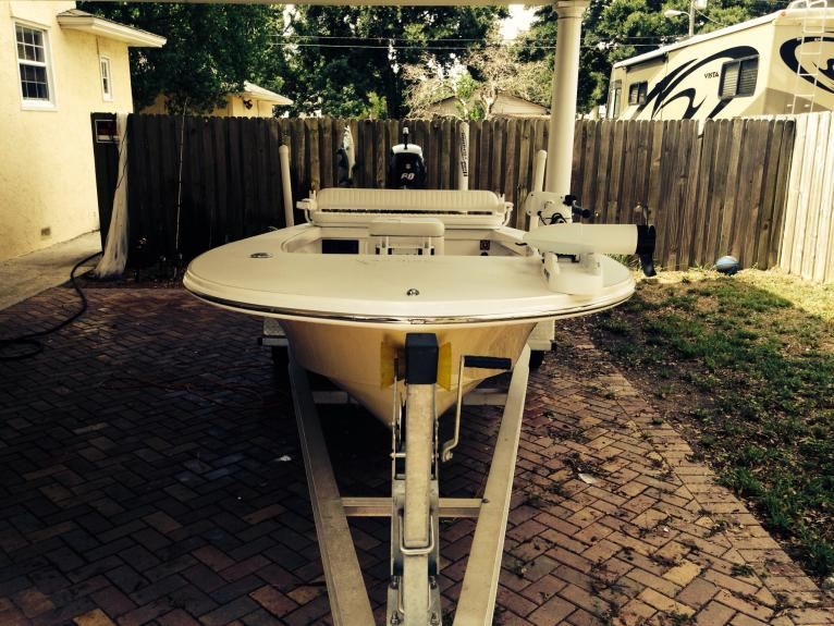 Pelican fly17 manufacturer 39 s demo boat florida sportsman for How much does composite decking weigh