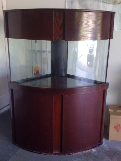 92 Gallon Corner Fish Tank With Stand And Canopy Florida Sportsman