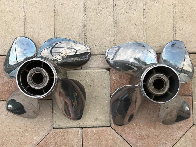 Pair of Powertech RXB4 Propellers — Florida Sportsman