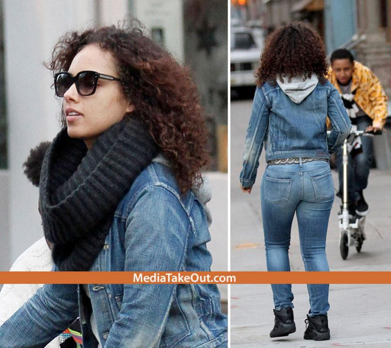 Alicia Keys Unmanipulated Curltalk