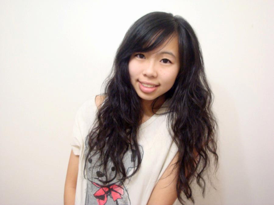 Dry asian hair