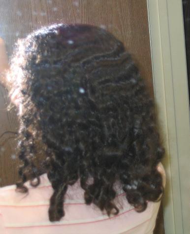 Sleek Straightened Hair To Super Short Curls Curltalk
