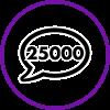 25,000 Comments