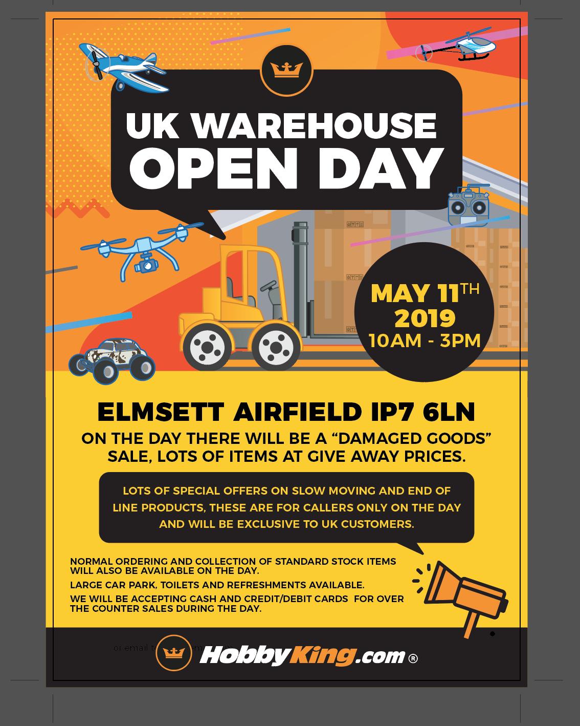 UK Warehouse Open Day — Hobby King Community