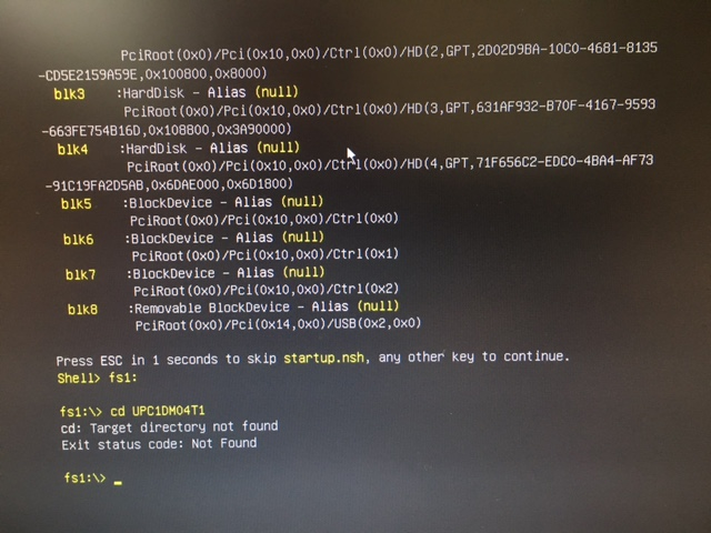 UEFI not available as boot device — upcommunity