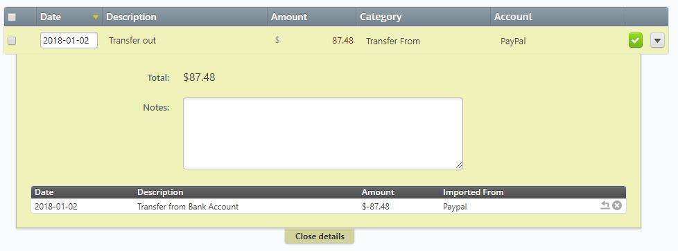 Transfers to my PayPal Account are showing up as
