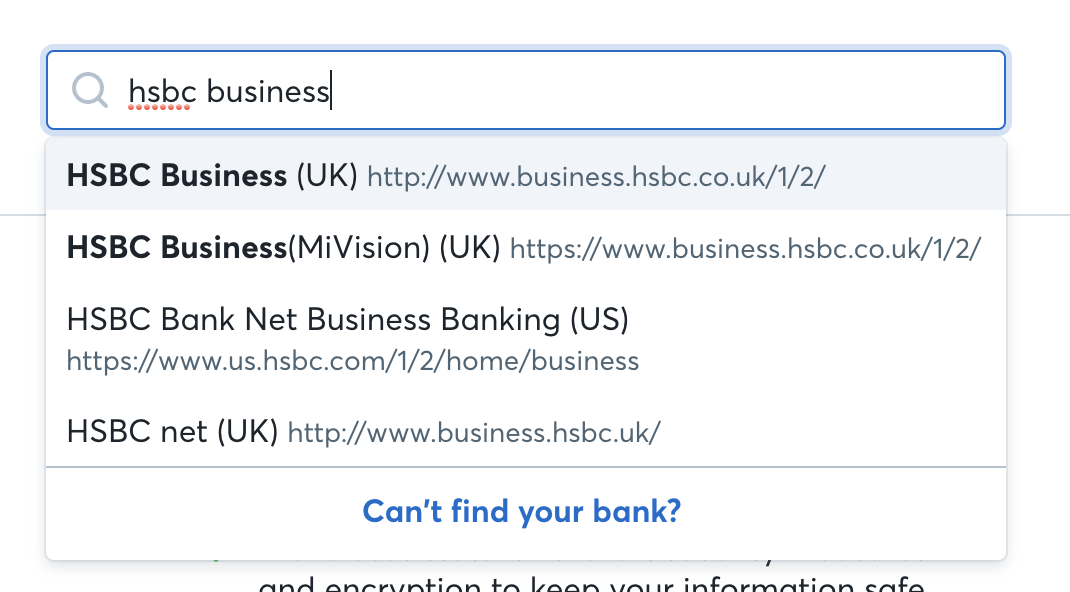 HSBC linking business account not working — Wave Community