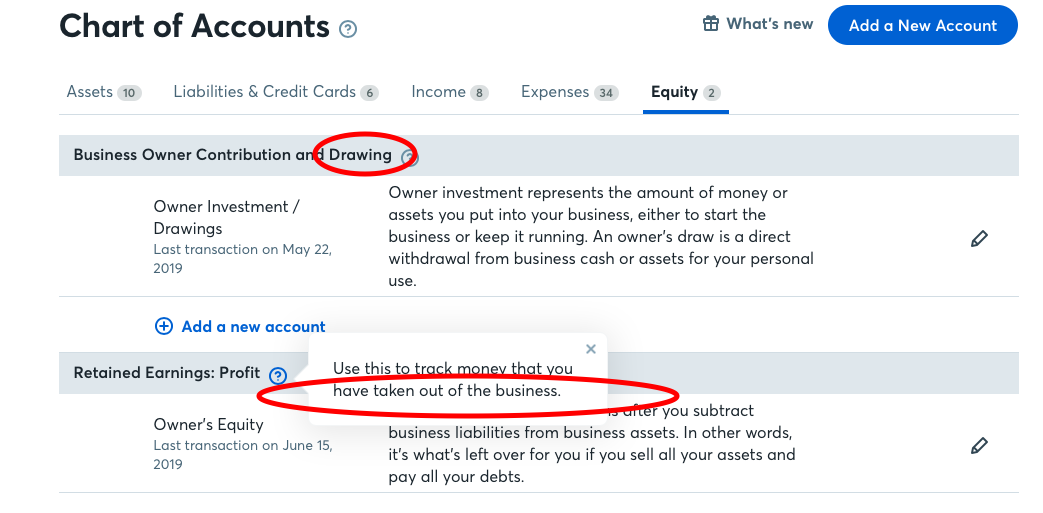 Wave accounting difference between owner equity and owner investment private family investment fund