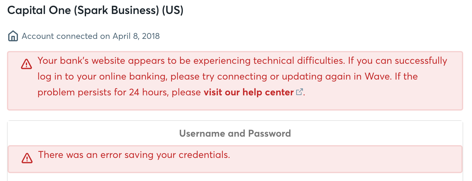 Capital One Business Spark Checking not supported - Page 2 — Wave