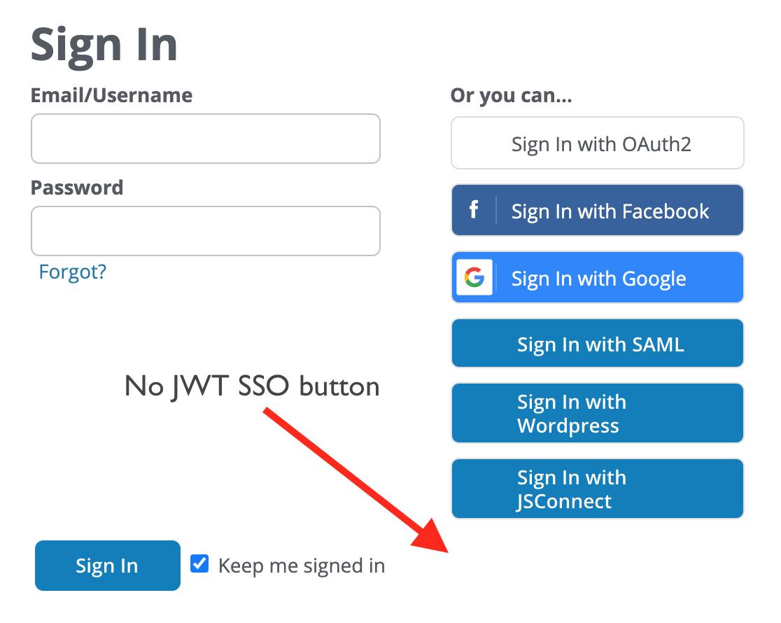 Screenshot of  a signin page.