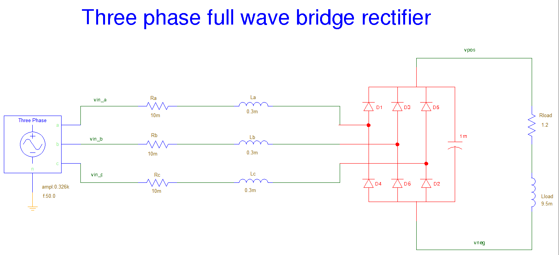 Three Phase Full Wave Bridge Rectifier Saber Forum Half On Circuit Schematic 334k