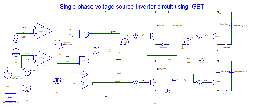 Single Phase Voltage Source Inverter Using IGBT — Saber Forum